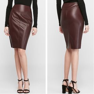 Express Faux Leather Pencil Skirt!